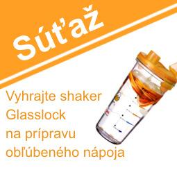 SÚŤAŽ o praktický sklenený shaker